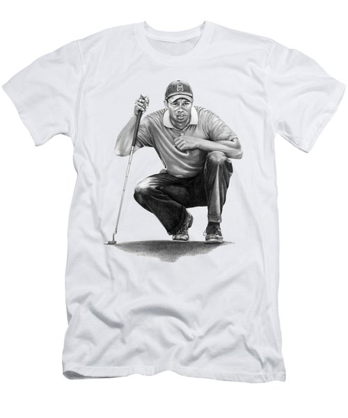 Tiger Woods Crouching Tiger Men's T-Shirt (Athletic Fit)