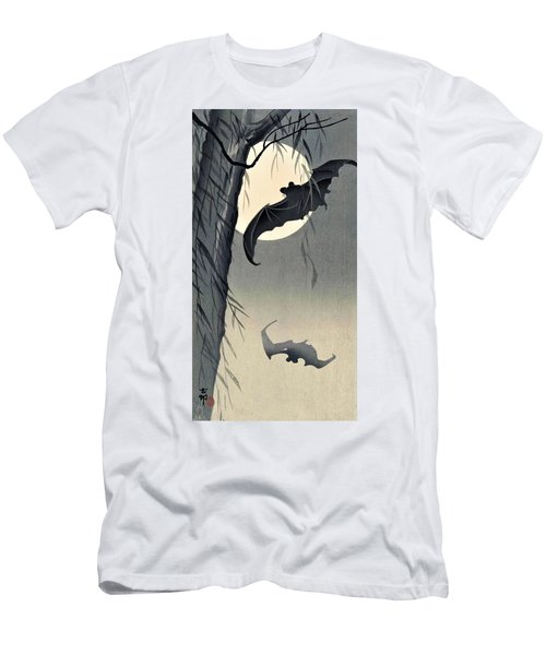 Top Quality Art - Moon And Bat Men's T-Shirt (Athletic Fit)