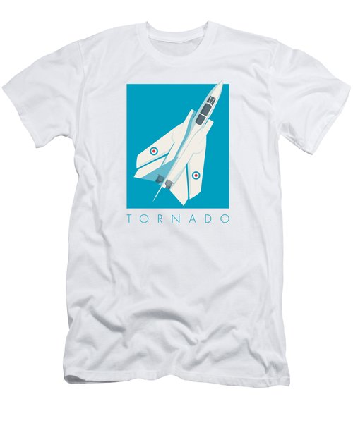 Tornado Swing Wing Jet - Cyan Men's T-Shirt (Athletic Fit)