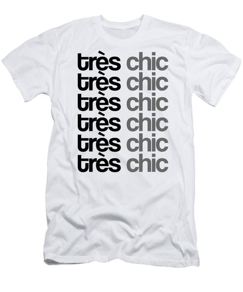 Tres Chic - Fashion - Classy, Bold, Minimal Black And White Typography Print - 7 Men's T-Shirt (Athletic Fit)