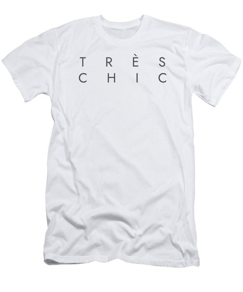Tres Chic - Fashion - Classy, Minimal Black And White Typography Print - 13 Men's T-Shirt (Athletic Fit)