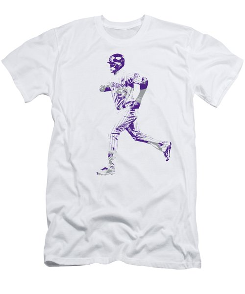 Trevor Story Colorado Rockies Pixel Art 3 Men's T-Shirt (Athletic Fit)