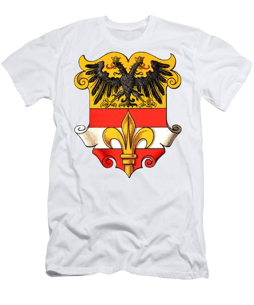 Men's T-Shirt (Athletic Fit) featuring the drawing Triest Coat Of Arms 1467-1919 by Hugo Stroehl