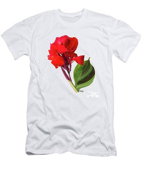 Tropical Bouquet-flower Three Men's T-Shirt (Athletic Fit)