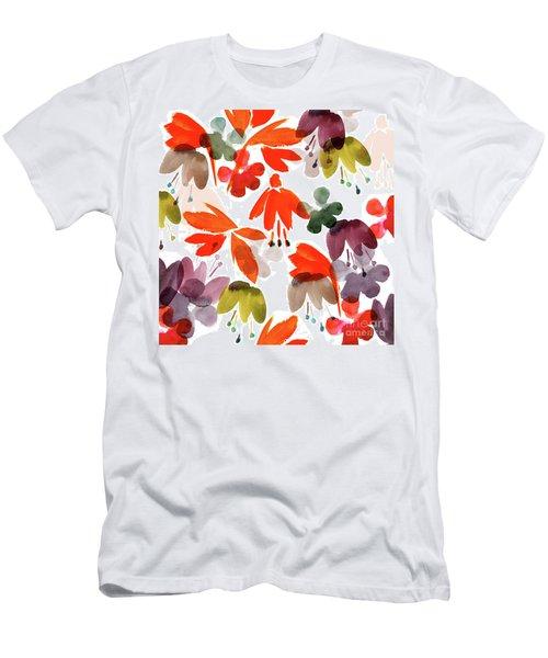 Tropical Flowers, 2017 Men's T-Shirt (Athletic Fit)
