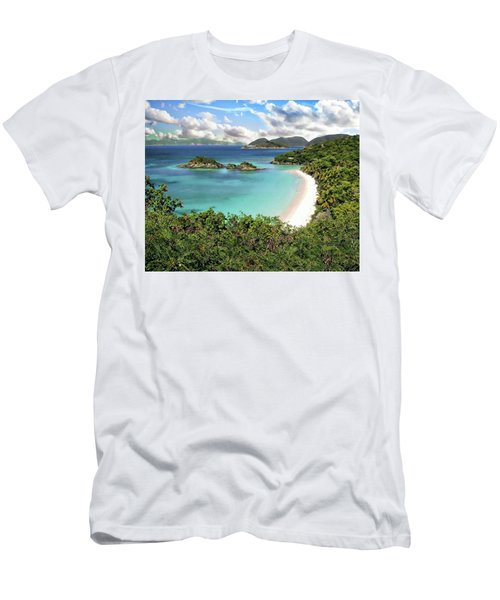 Men's T-Shirt (Athletic Fit) featuring the photograph Trunk Bay by Anthony Dezenzio