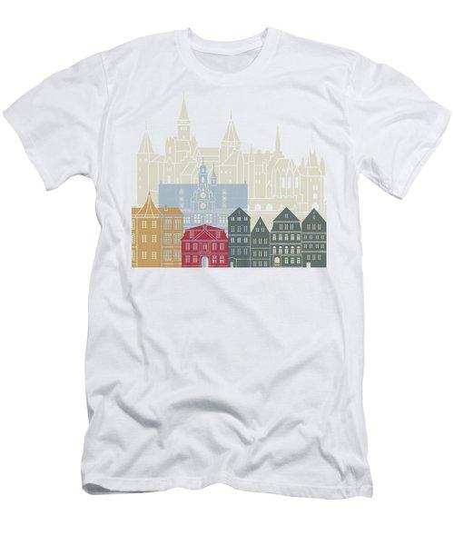 Tubingen Skyline Poster  Men's T-Shirt (Athletic Fit)