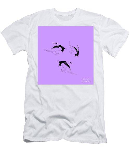 Tumbling Penguins Men's T-Shirt (Athletic Fit)