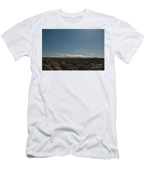 Turkish Landscapes With Snowy Mountains In The Background Men's T-Shirt (Athletic Fit)
