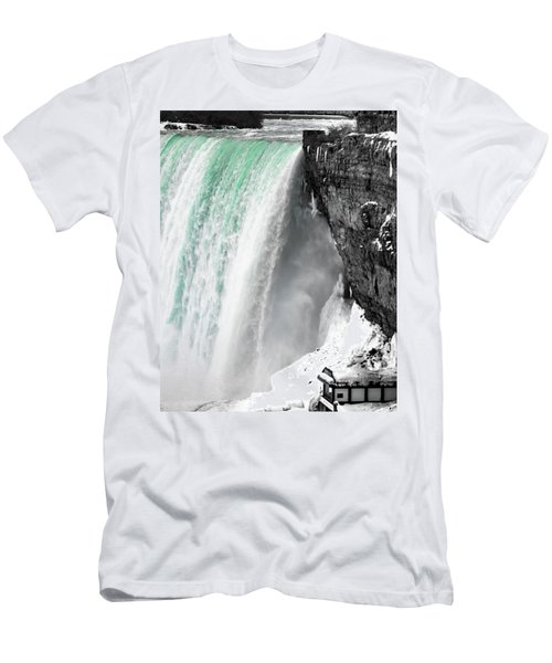 Turquoise Falls Men's T-Shirt (Athletic Fit)