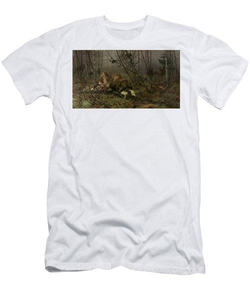 Two Fighting Moose Bulls Men's T-Shirt (Athletic Fit)