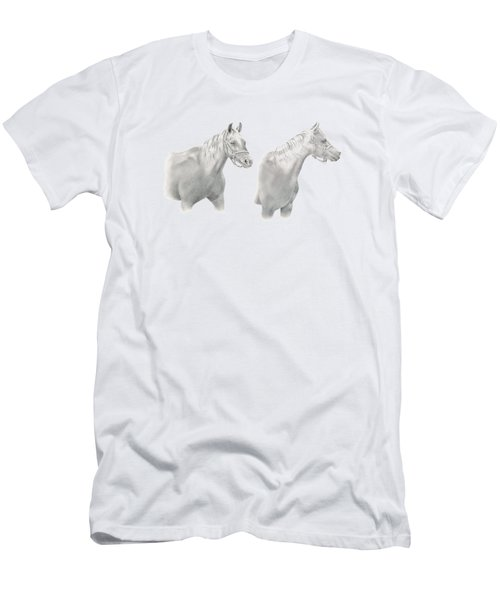 Two Horse Study Men's T-Shirt (Athletic Fit)