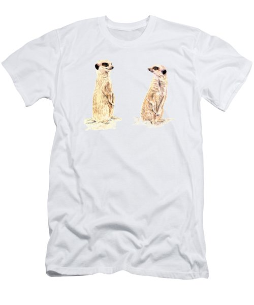 Two Meerkats Men's T-Shirt (Athletic Fit)