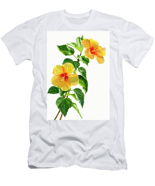 Two Yellow Hibiscus Flowers Men's T-Shirt (Athletic Fit)