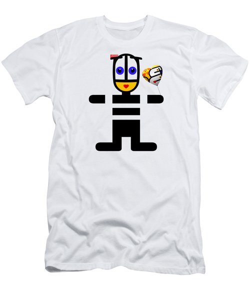 uBABE Love Balloon Men's T-Shirt (Athletic Fit)