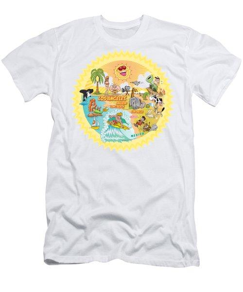Ultimate Sunny California Beach Paradise Men's T-Shirt (Athletic Fit)
