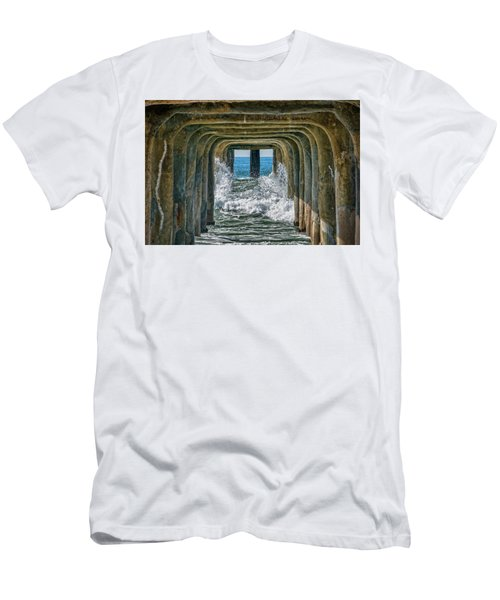 Men's T-Shirt (Athletic Fit) featuring the photograph Under The Pier Manhattan by Michael Hope