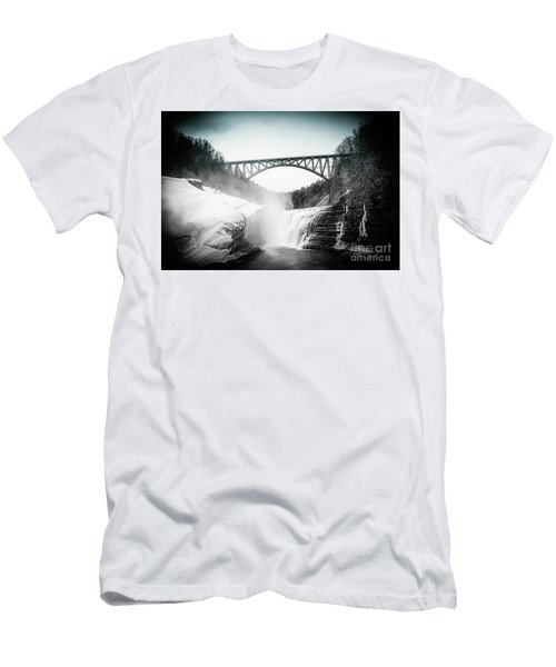 Upper Falls At Letchworth State Park Men's T-Shirt (Athletic Fit)