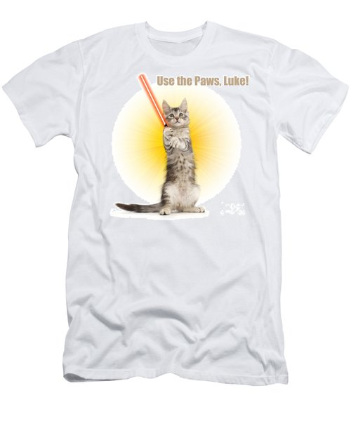 Men's T-Shirt (Athletic Fit) featuring the photograph Use The Paws, Luke by Warren Photographic