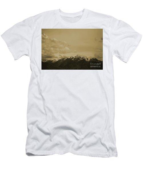 Utah Mountain In Sepia Men's T-Shirt (Athletic Fit)