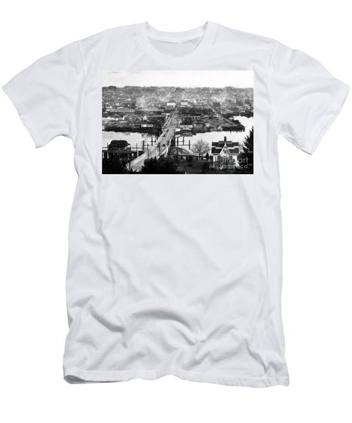 Men's T-Shirt (Athletic Fit) featuring the photograph View East Over Olympia 1921 by Merle Junk