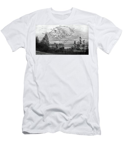 View Of Boston Harbor Men's T-Shirt (Athletic Fit)