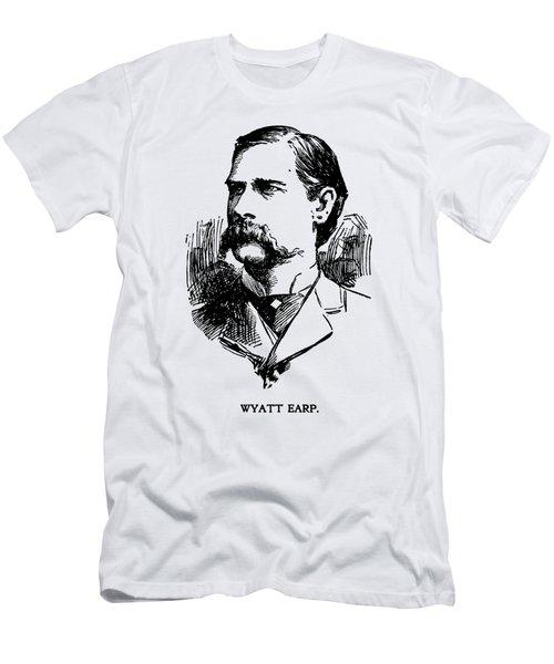 Vintage Newspaper Wyatt Earp Portrait 1896 - T-shirt Men's T-Shirt (Athletic Fit)