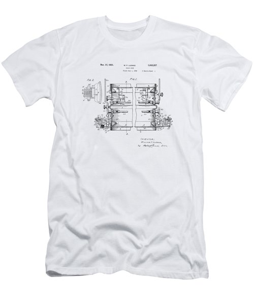 W F Ludwig Snare Drum Patent Men's T-Shirt (Athletic Fit)