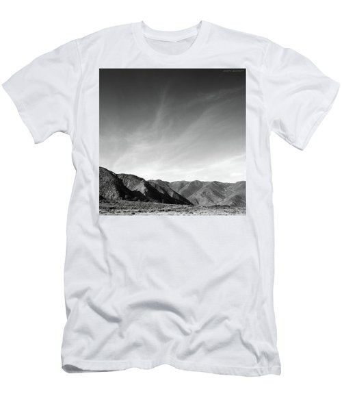 Wainui Hills Squared In Black And White Men's T-Shirt (Athletic Fit)