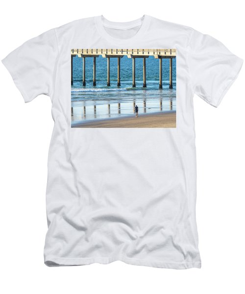 Walk To The Pier Men's T-Shirt (Athletic Fit)
