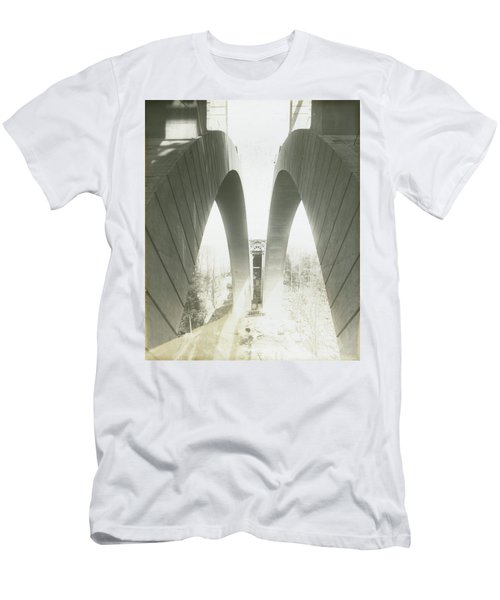 Walnut Lane Bridge Under Construction Men's T-Shirt (Athletic Fit)
