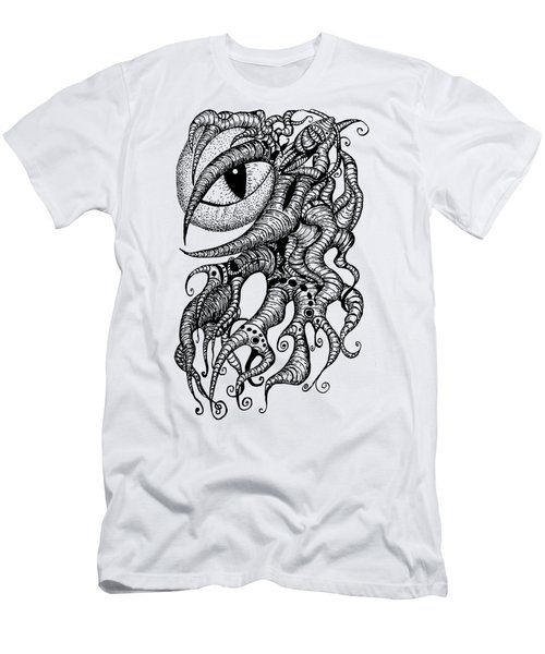 Watching Eye Creature With Tentacles Men's T-Shirt (Athletic Fit)