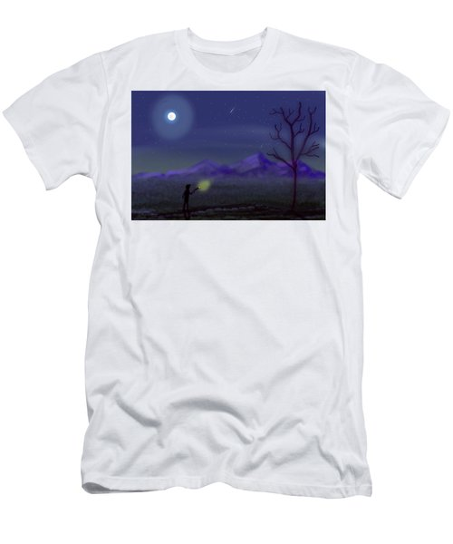 Watching Shooting Stars Men's T-Shirt (Athletic Fit)