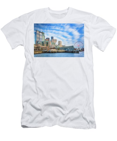 Waterfront Skyline Men's T-Shirt (Athletic Fit)