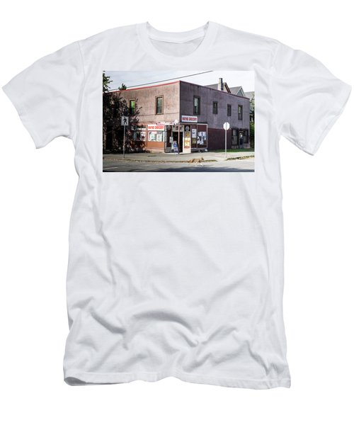 Men's T-Shirt (Athletic Fit) featuring the photograph Wayne Grocery by Juan Contreras