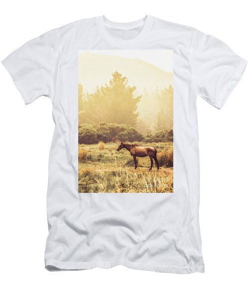 Western Ranch Horse Men's T-Shirt (Athletic Fit)