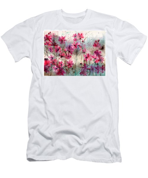 Where Pink Flowers Grew Men's T-Shirt (Athletic Fit)