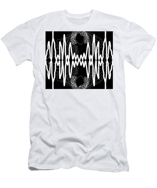 Men's T-Shirt (Athletic Fit) featuring the drawing White And Black Frequency Mirror by Joan Stratton