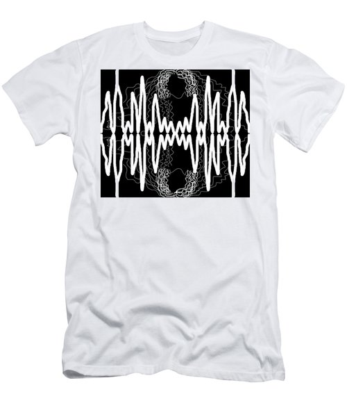 White And Black Frequency Mirror Men's T-Shirt (Athletic Fit)