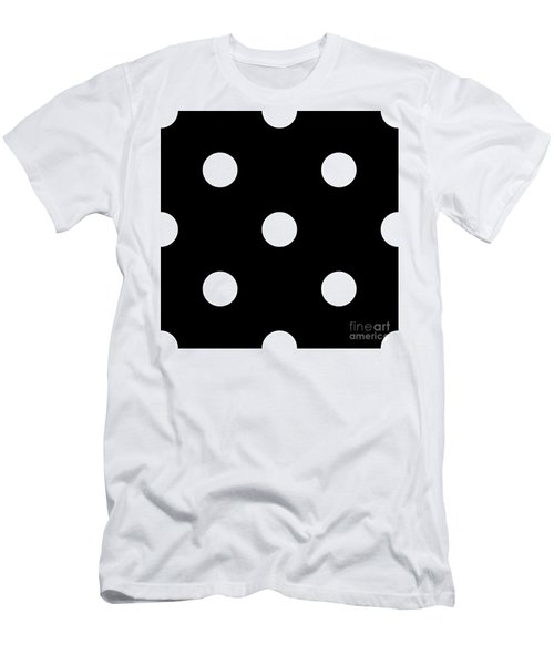 White Dots On A Black Background- Ddh612 Men's T-Shirt (Athletic Fit)