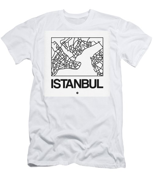 White Map Of Istanbul Men's T-Shirt (Athletic Fit)