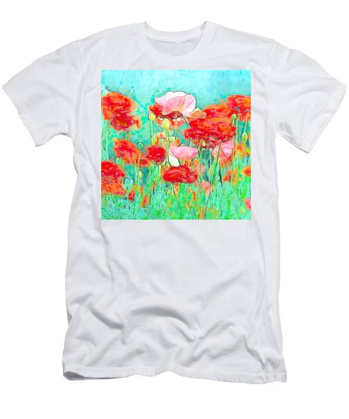 Wild Poppy Art Men's T-Shirt (Athletic Fit)