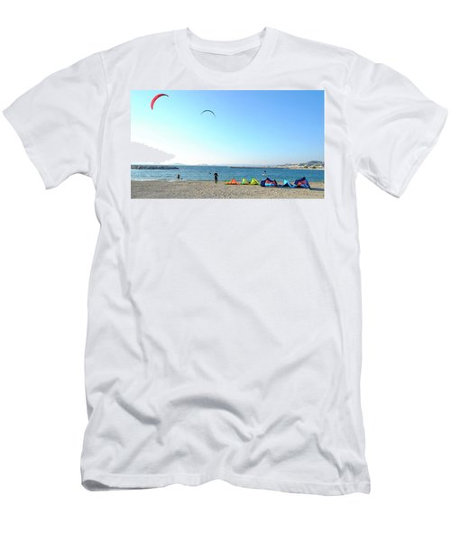 Men's T-Shirt (Athletic Fit) featuring the photograph Windsurfing Marseille by August Timmermans