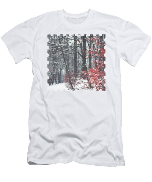 Winter Day - Snowy Forest Hike Men's T-Shirt (Athletic Fit)