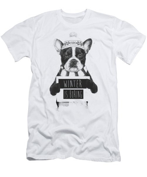 Winter Is Boring Men's T-Shirt (Athletic Fit)