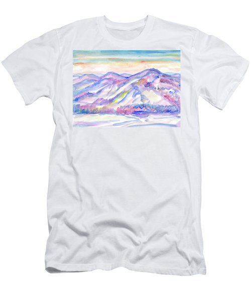 Winter Mountain Landscape Men's T-Shirt (Athletic Fit)