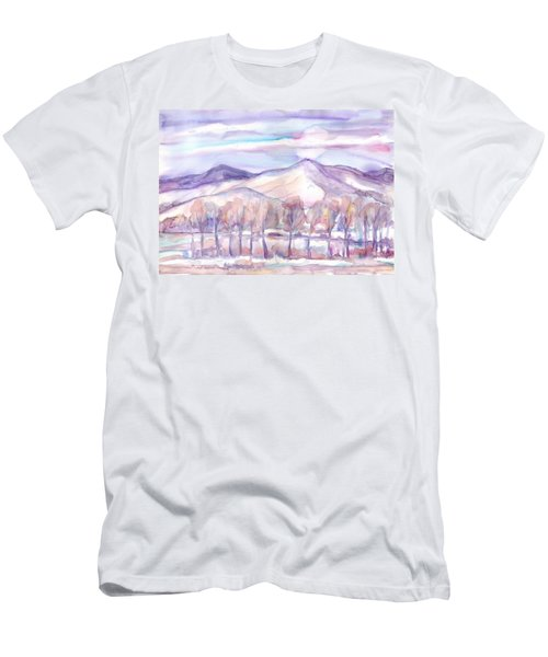 Winter Sunrise On A Frosty River Men's T-Shirt (Athletic Fit)