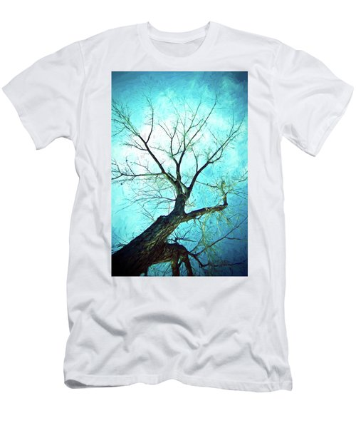 Men's T-Shirt (Athletic Fit) featuring the photograph Winter Tree Blue  by James BO Insogna
