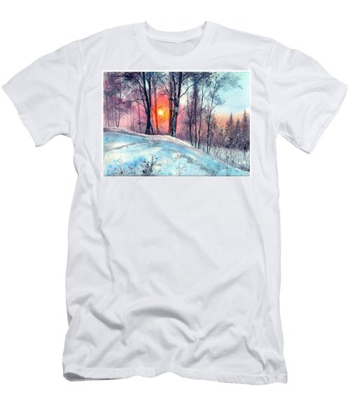 Winter Woodland In The Sun Men's T-Shirt (Athletic Fit)