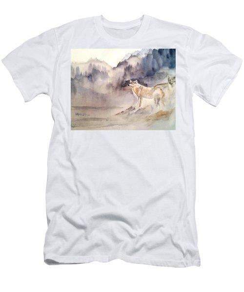 Wolves On Guard Men's T-Shirt (Athletic Fit)